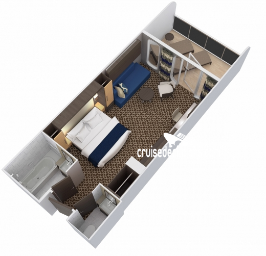 Ovation of the Seas Family Junior Suite Diagram Layout