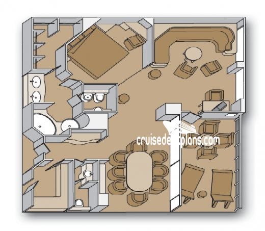 Pacific Aria Penthouse Diagram Layout