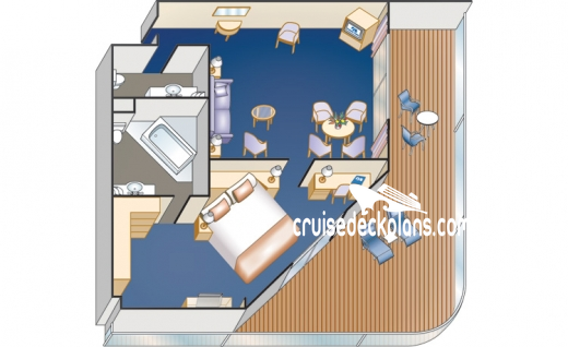 Pacific Princess Suite Diagram Layout