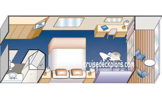 Pacific Princess Balcony Diagram Layout
