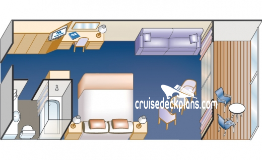 Pacific Princess Mini-Suite Diagram Layout