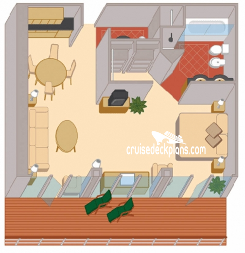 Queen Elizabeth Master Suite Diagram Layout