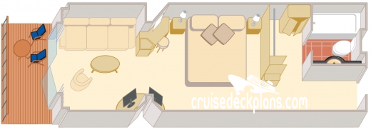 Queen Elizabeth Princess Suite Diagram Layout