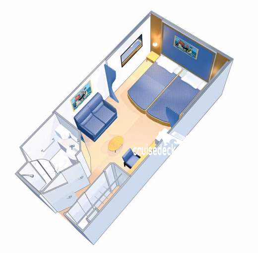 Radiance of the Seas Interior Diagram Layout