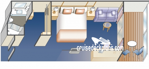 Majestic Princess Deluxe Balcony Diagram Layout