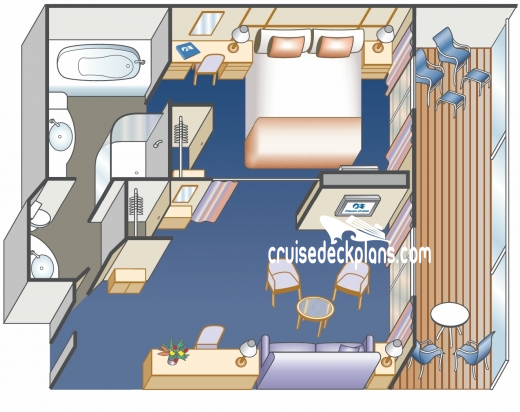Majestic Princess Suite Diagram Layout
