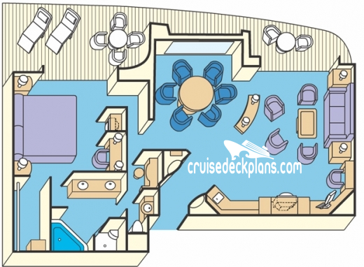 Sapphire Princess Grand Suite Diagram Layout