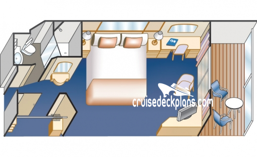 Sea Princess Balcony Diagram Layout