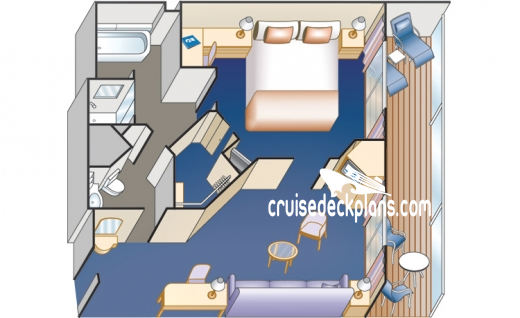 Sea Princess Mini-Suite Diagram Layout