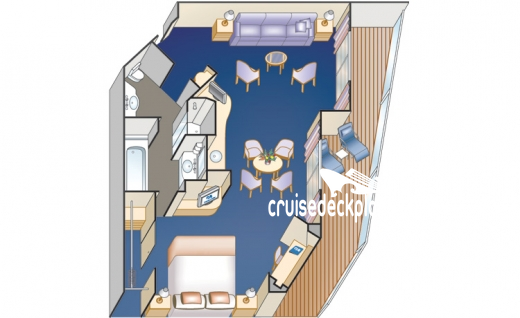 Sea Princess Suite Diagram Layout