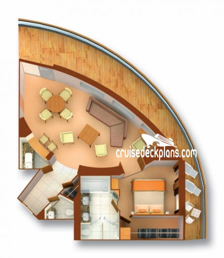 Seabourn Odyssey Owner Suite Diagram Layout