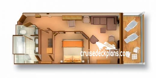 Seabourn Odyssey Penthouse Suite Diagram Layout