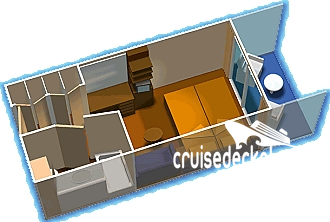 Serenade of the Seas Balcony Diagram Layout