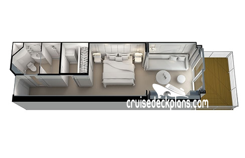 Seven Seas Splendor Deluxe Veranda Suite Diagram Layout