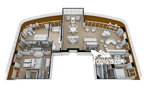Seven Seas Splendor Regent Suite Diagram Layout
