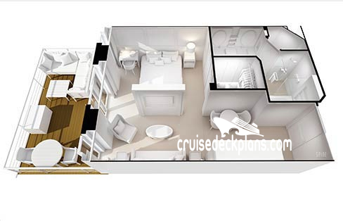 Seven Seas Splendor Penthouse Suite Diagram Layout