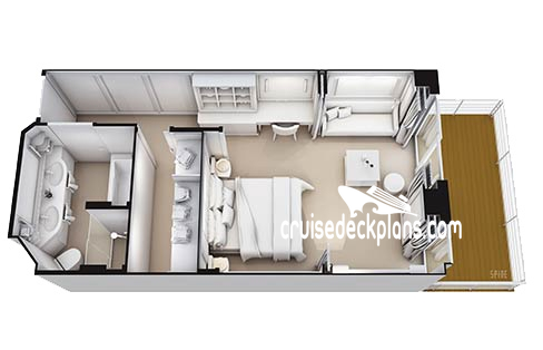 Seven Seas Splendor Suite Diagram Layout