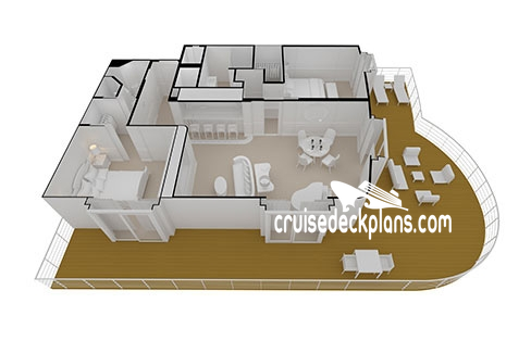 Seven Seas Splendor Master Suite Diagram Layout