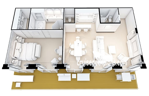Seven Seas Splendor Grand Suite Diagram Layout