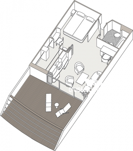 Seven Seas Mariner Horizon Suite Diagram Layout