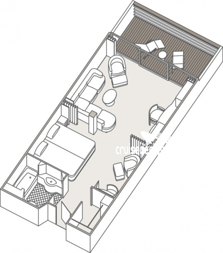 Seven Seas Mariner Penthouse Suite Diagram Layout