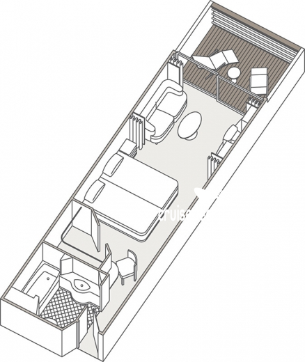 Seven Seas Mariner Deluxe Suite Diagram Layout
