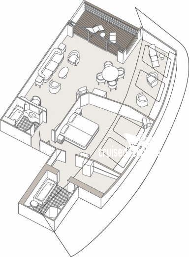 Seven Seas Mariner Grand Suite Diagram Layout
