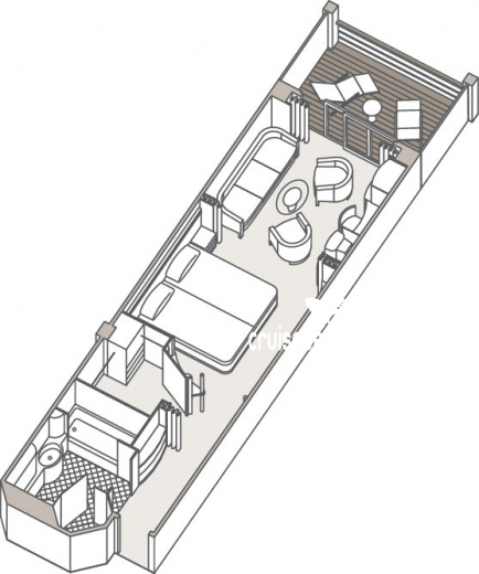 Seven Seas Navigator Penthouse Suite Diagram Layout