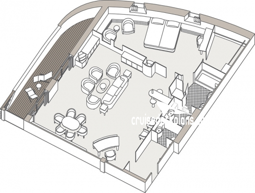 Seven Seas Navigator Master Suite Diagram Layout