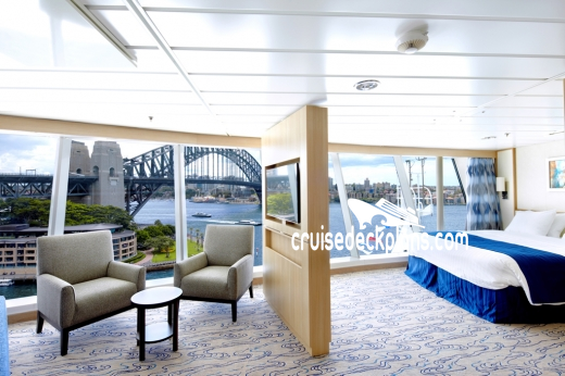 Liberty of the Seas Panoramic Suite Diagram Layout