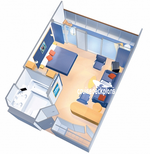 Liberty of the Seas Grand Suite - 1 Bedroom Diagram Layout