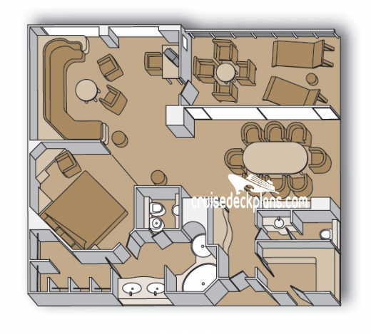 Maasdam Pinnacle Suite Diagram Layout