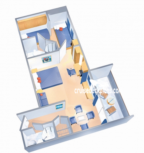 Majesty of the Seas Family Suite Diagram Layout