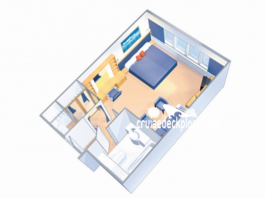 Majesty of the Seas Grand Suite - 1 Bedroom Diagram Layout