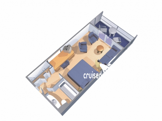 Majesty of the Seas Junior Suite Diagram Layout