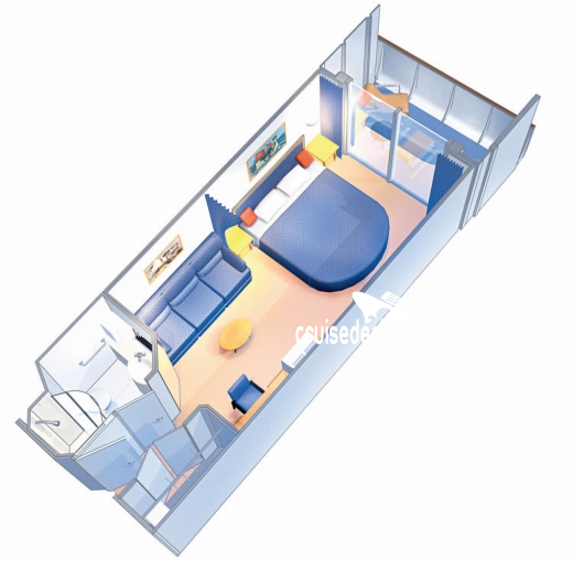 Mariner of the Seas Spacious Balcony Diagram Layout