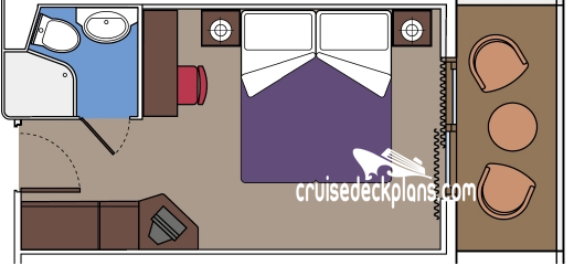MSC Lirica Balcony Diagram Layout