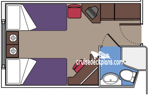 MSC Lirica Oceanview Diagram Layout