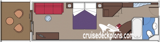MSC Poesia Balcony Suite Diagram Layout