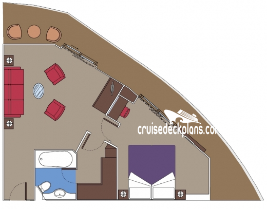 MSC Splendida Yacht Club Suite Diagram Layout