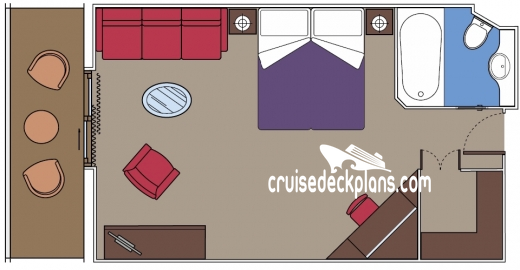 MSC Splendida Balcony Suite Diagram Layout