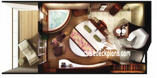 Norwegian Epic The Haven Suites Diagram Layout