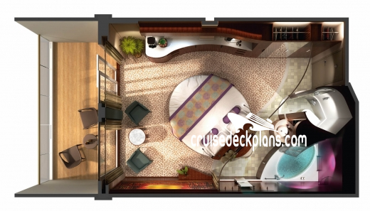 Norwegian Epic The Haven Courtyard Penthouse Diagram Layout