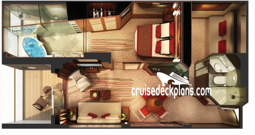 Norwegian Epic The Haven Courtyard Villa Diagram Layout