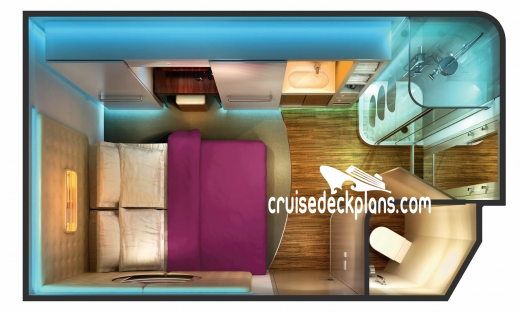 Norwegian Epic Studio Diagram Layout