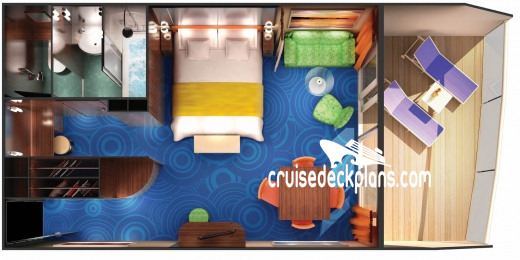 Norwegian Gem Penthouse Diagram Layout