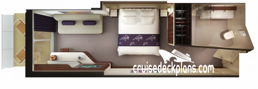 Norwegian Getaway Mini-Suite Diagram Layout