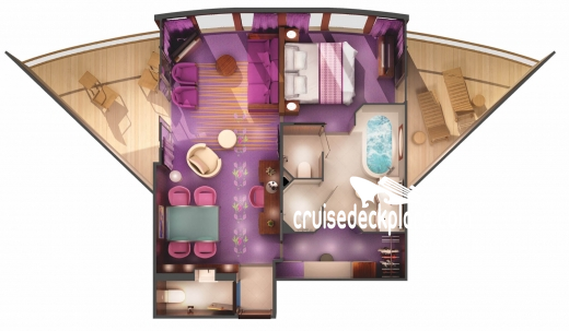Norwegian Jade The Haven Deluxe Owners Suite Diagram Layout