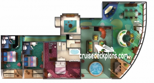Norwegian Jewel The Haven Garden Villa Diagram Layout