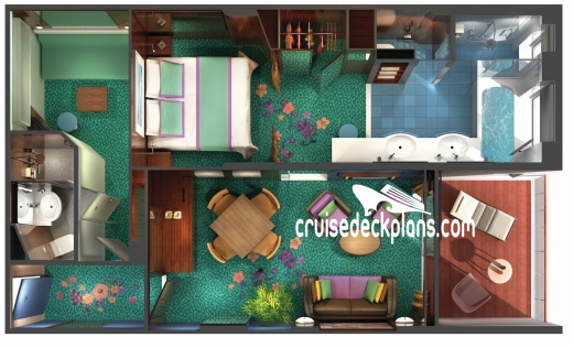 Norwegian Jewel The Haven Courtyard Penthouse Diagram Layout